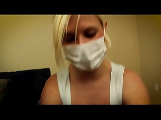 POV Double handjob Alexis Rain and Fifi Foxx dental assistants mask and gloves