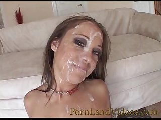 dirty cocksucker milf full of cum on face blowjobs gangbang