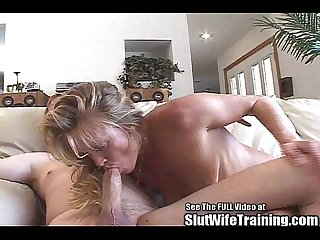 Anal milf slut wife training session