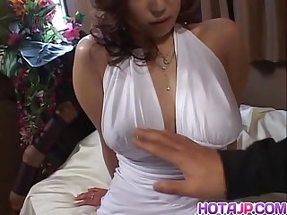Amazing show with busty naho