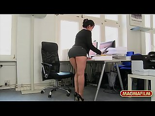 Rimming the petite asian milf co worker in the office