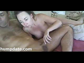 MILF sucks hubbys cock and gives handjob