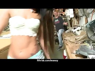 Sex for cash turns shy Girl into a slut 8