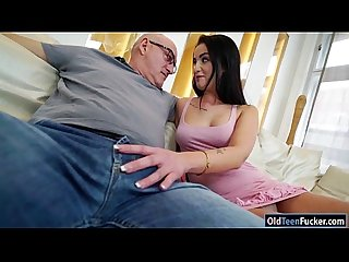 Hottie loren minardi gives bj licked and ride on senior cock