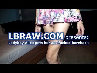 Asian ladyboy Alice fucked bareback