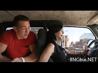 Free gang bang Bus clip