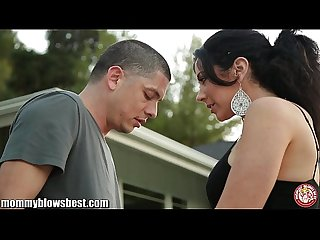 MommyBB Jayden James sucks a cock on her porch
