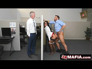 Insanely Hot Bosses Daughter Aubrey Rose Fucks Her Dad's Employees