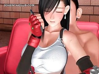 Horny hentai doll gets fucked and fingered
