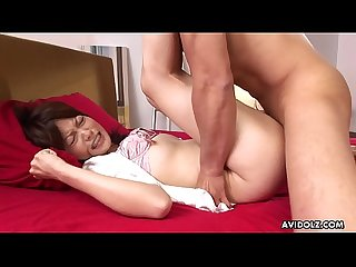 Big ass asian lady sucking then fucking that hard cock