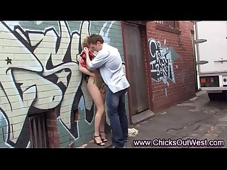 Horny aussie couple outdoor