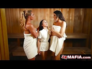 Towel girl kiley jay dominated by horny milfs phoenix marie reagan foxx