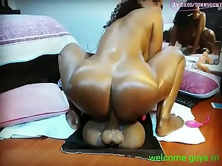 Ebony milf dildo ride