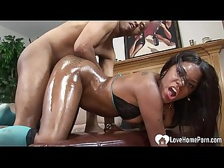 Black chick rides a nice hard BBC