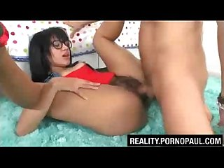 Hairy pussy girl fucked by big dick