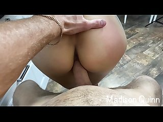 Fucks Madison in the Kitchen and Cum on Tits