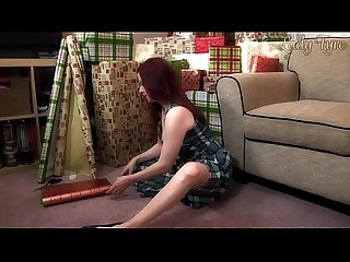 Milf Mom gives handjob for kinky christmas lady fyre throwback