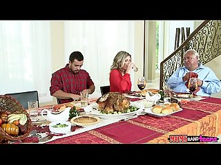 Moms bang teen naughty family thanksgiving