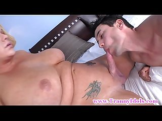 Shemale bangs her studs tight ass with her hard cock