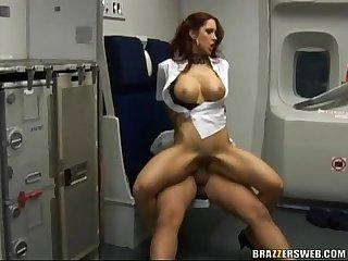 Busty kylee strutt gets fuck on the plane