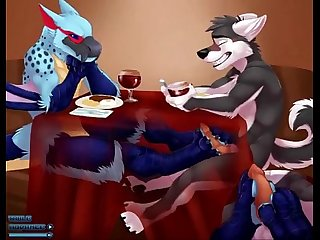 Gay bird giving wolf footjob under table yiff jasonafex xvideos com