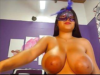 Large areolas masked latina girl webcam posing1