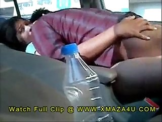 Desi indian brother fucking sister in the car outdoors