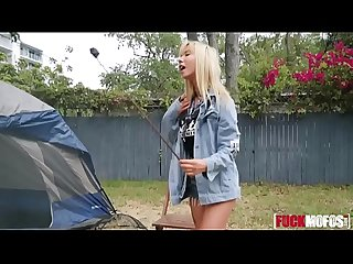 Kenzie Reeves In Backyard Camping for Hottie on House Arrest