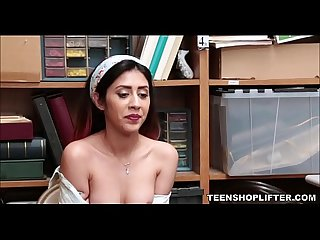 Tiny Young Latina Teenager Shoplifter Seduces Officer With Perfect Small Tits For Freedom