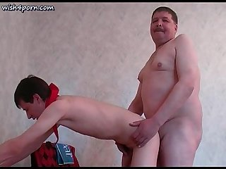 Teen boys getting fucked doggy by old fat gay