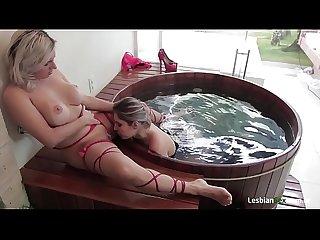 Blonde Brazilian girls licking pussy!