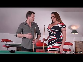 Busty lovers go nuts when Laura Orsolya gets titty fucked balls deep