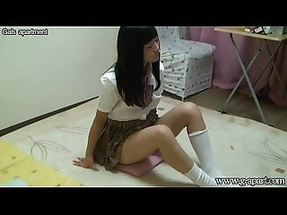 Japanese schoolgirl upskirt and downblouse