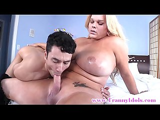 Shemale blown and rimmed by her eager male stud
