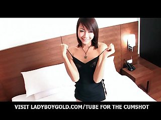 Small Titted Ladyboy Teen Wanking Hard