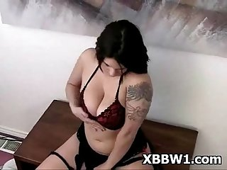Bbw tattooed voluptuous pretty metalhead girl striptease 2 (2)
