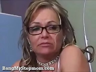 Milf stepmom fucks son