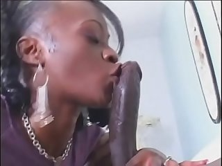 Ebony beauty Jasmine Sky takes a gigantic black dick in ass and pussy