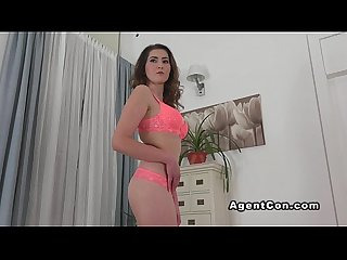 Fake agent fucks babe in an office in casting