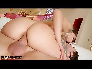 Rammed gorgeous gina valentina has her ass plowed hard