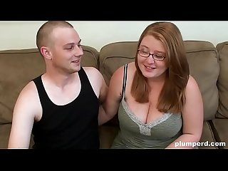 Fat nerd teen fucks with her skinny boyfriend