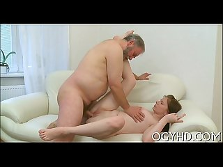 Kinky young girl enjoys old boner