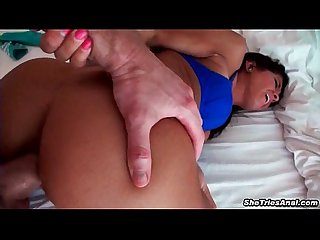 Anal sex that ends with an explosive cumshot