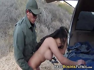 Border Gaurd Blackmails Illegal Mexican Teeny