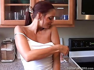Hot horny old spunker imagines you fucking her juicy pussy