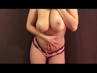 Curvy Wife Playing with Big Boobs