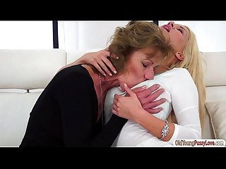 Busty Sienna Day sits on grannys face and eats her old pussy
