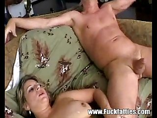 Fatty Blonde Housewife Tongue Fucked Really Good