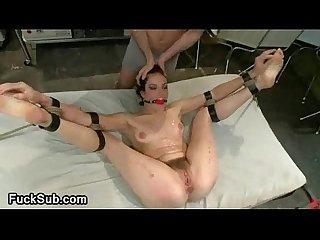 Hary pussy hottie gangbanged bdsm