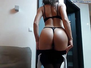Sexy polish babe teasing and stripping on cam paxcams com